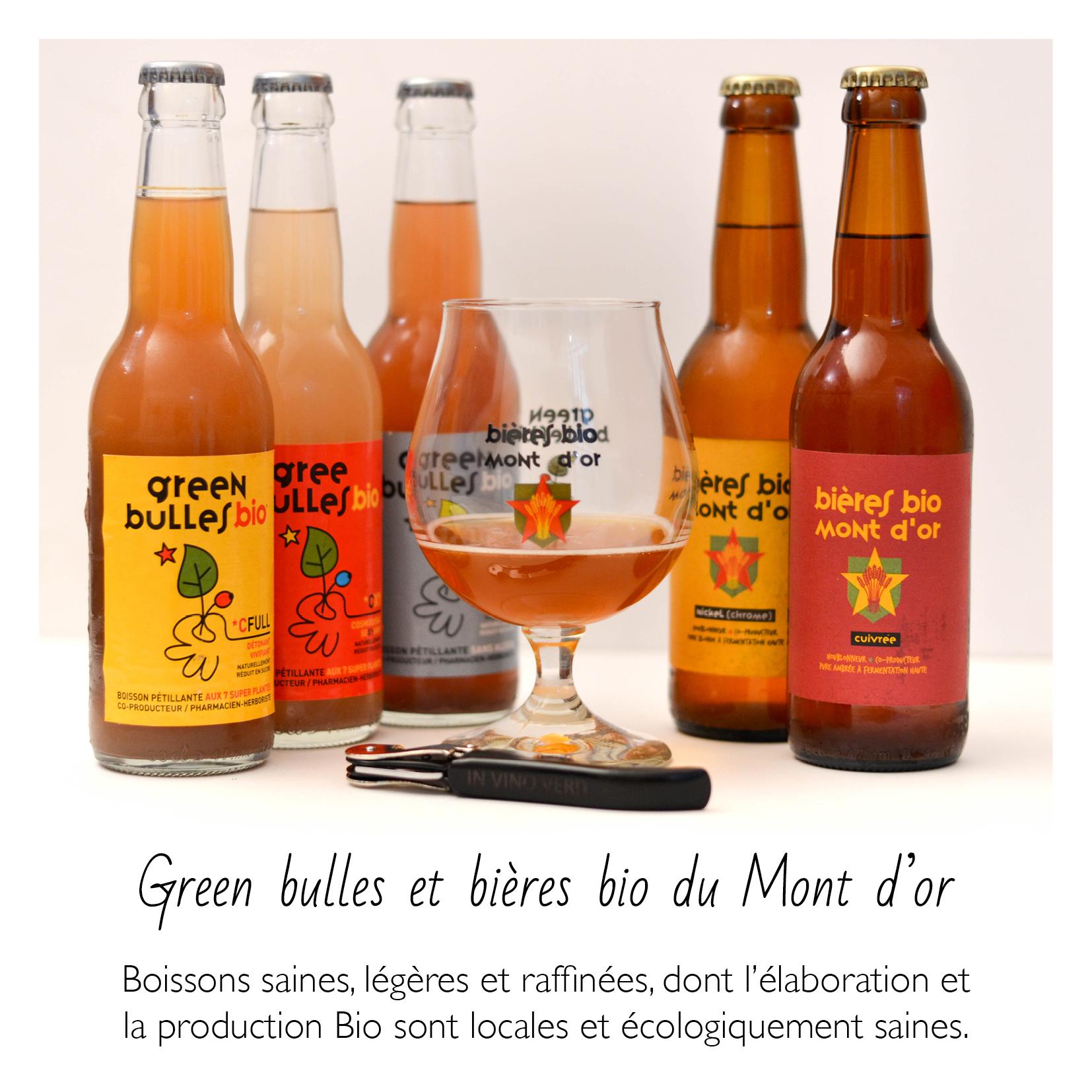 Green bulles et bière